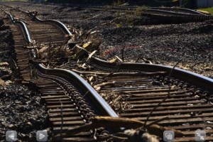 destroyed railroad