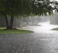 A little rain…