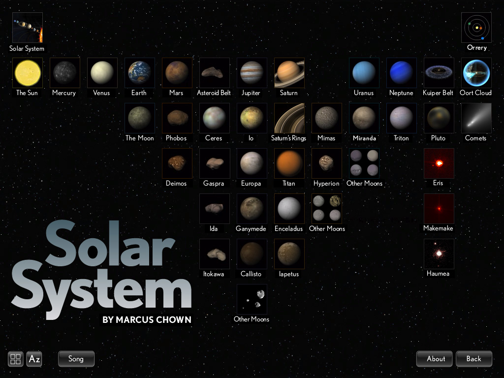 The Solar System from Touch Press, a beautiful app