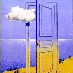 door and cloud rene magritte