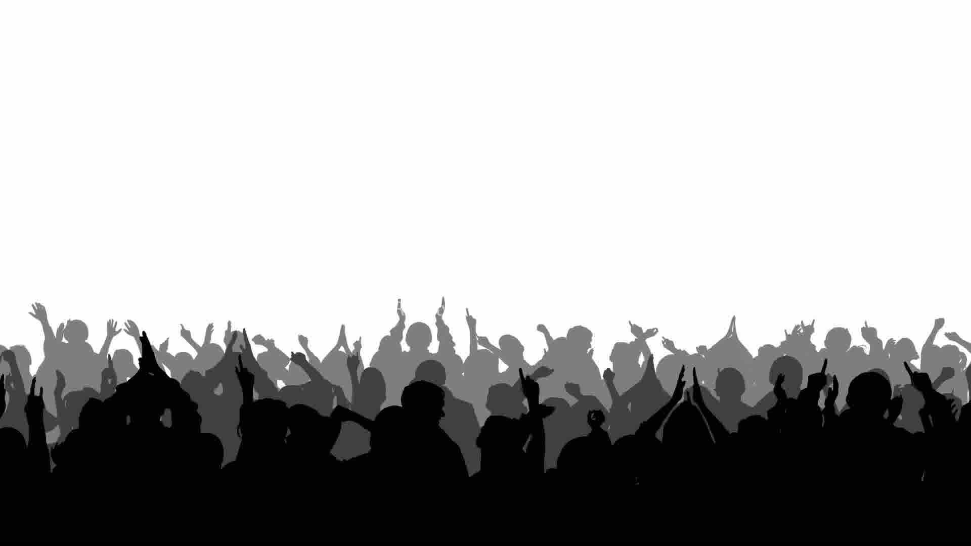 Concert Crowd Silhouette Png Images & Pictures - Becuo Rock Band Silhouette